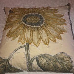 Pottery Barn Sunflower pillow